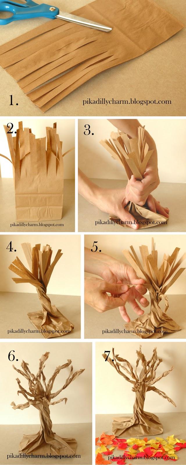 Из чего можно сделать дерево для поделки 15