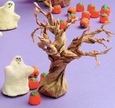 Spooky Tree You Can Make From A Paper Bag