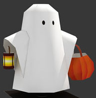 Here's A Cute Little Ghost You Can Make With Free Templates