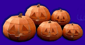 Paper Craft Halloween Jack-o-Lanterns You Can Make With Free Templates