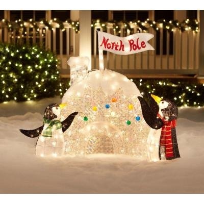 Adorable Penguin Igloo To Light Up Your Yard
