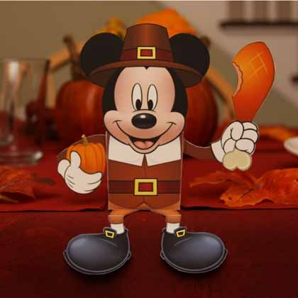 Free Thanksgiving Mickey and Minnie Candy Boxes You Can Make