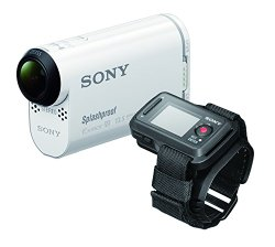 Sony HDR-AS 100VR POV Action Video Camera with Live View Remote (White)