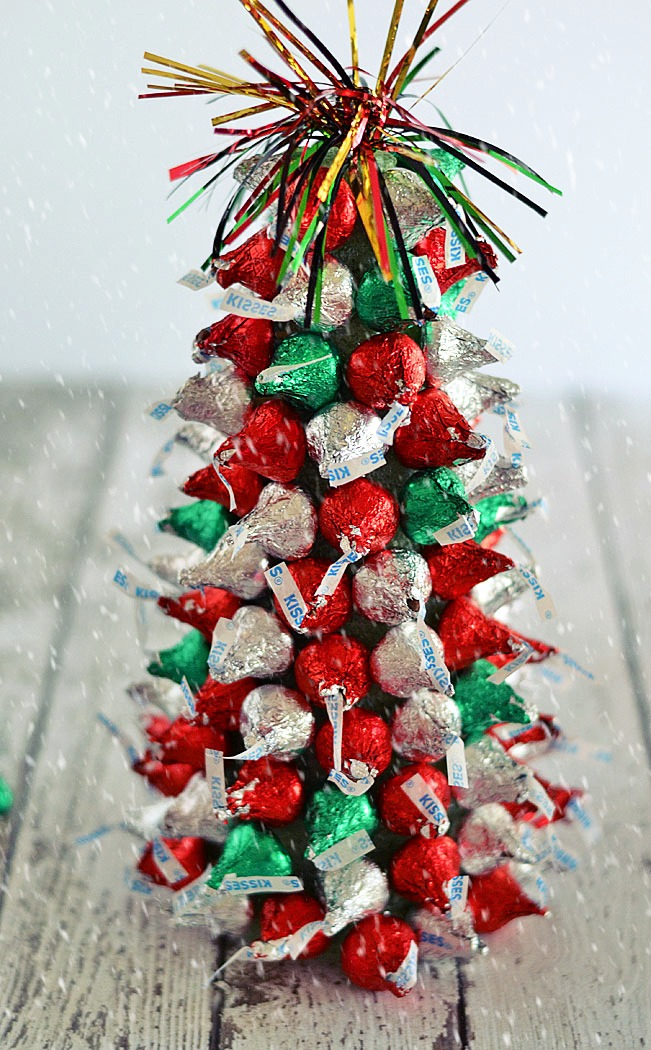 Hershey Kiss Mas Tree Centerpiece Two Cans On A String