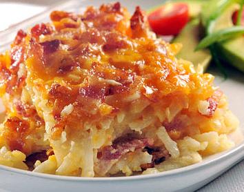Easy Potato Bacon Casserole Recipe