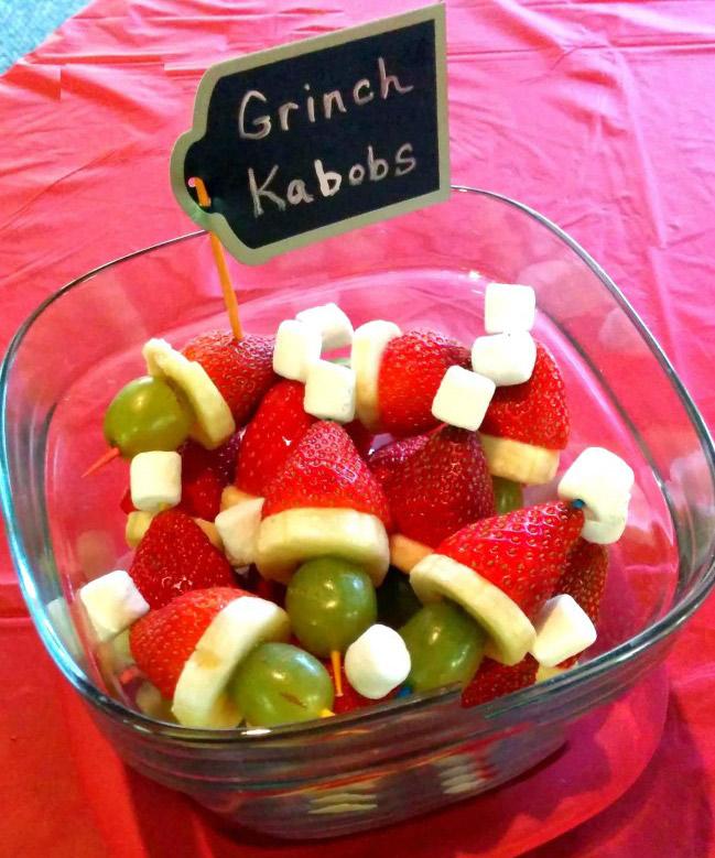 Healthy Grinch Kabobs Recipe