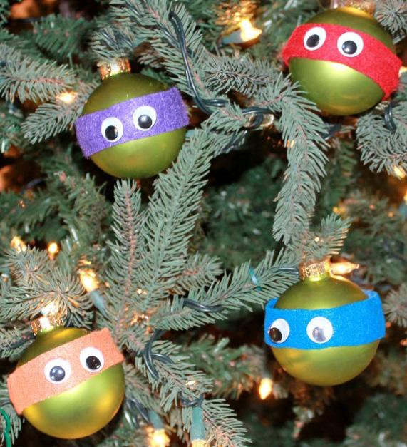 Fun Teenage Mutant Ninja Turtle Ornaments You Can Make