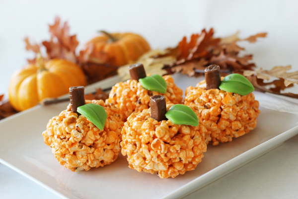 Get Your Fall On With Popcorn Ball Pumpkins