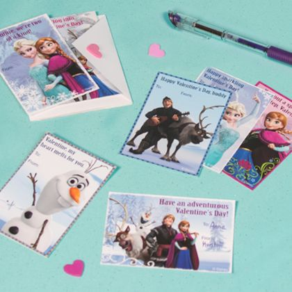 Frozen Valentine Cards You Can Make