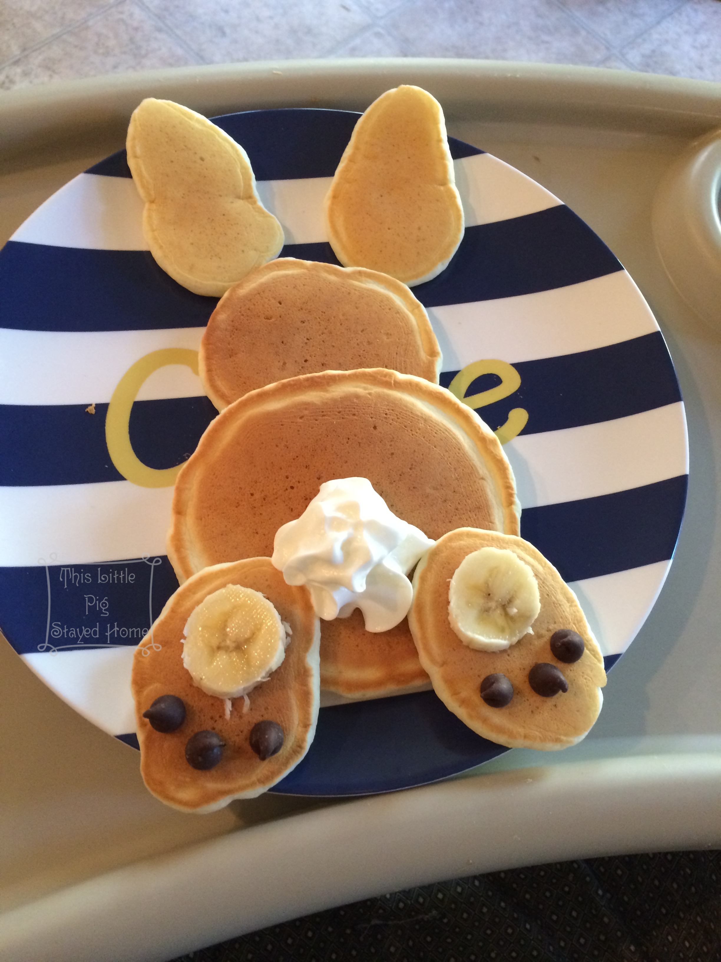 Bunny Pancakes For Easter Sunday
