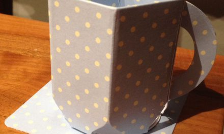 Paper Craft Coffee Mug Tutorial