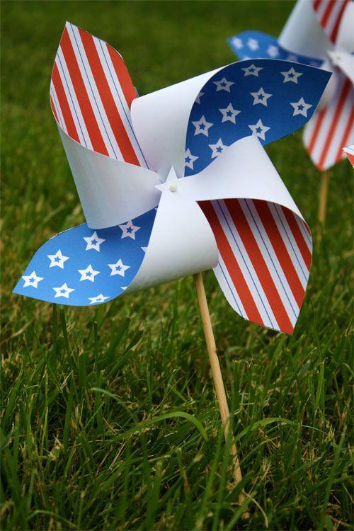 Patriotic Pinwheel Free Printable