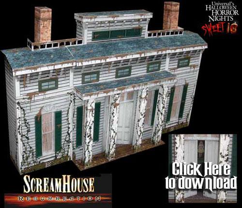 3-D Paper Craft Halloween Buildings