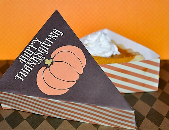 Thanksgiving Pie Box Printable