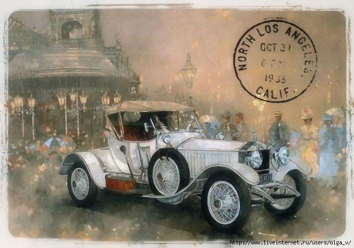 Vintage Car Post Card Ephemera