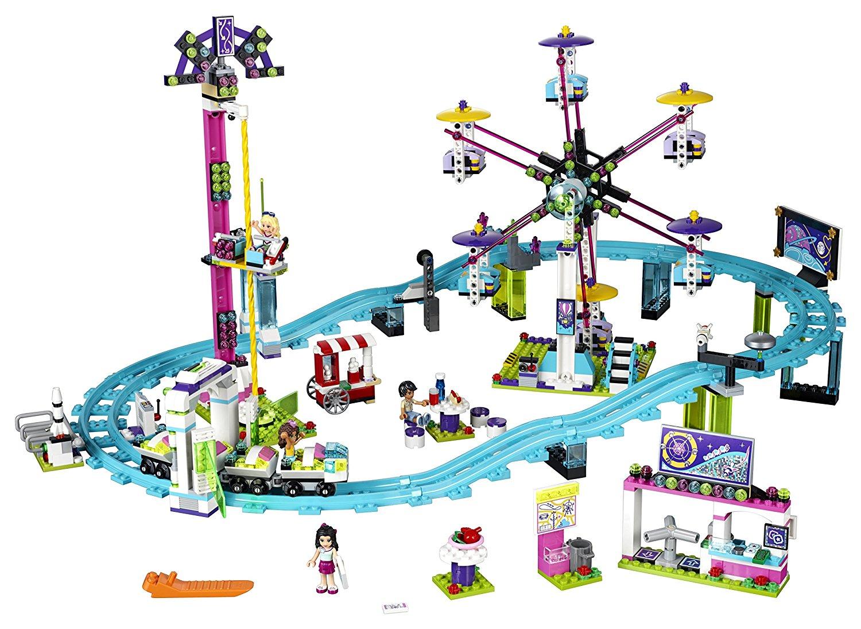 LEGO Friends Amusement Park Roller Coaster Building Kit