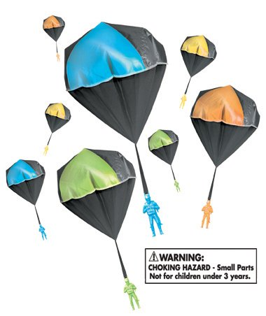 Aeromax GLOW Tangle Free Toy Parachute