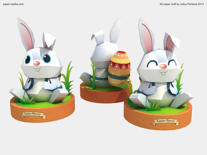 Paper Craft Easter Bunny